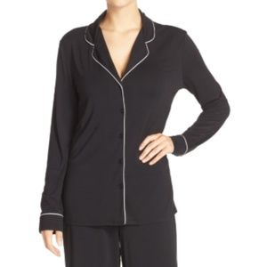 Nordstrom Lingerie Black Moonlight Pajama Top